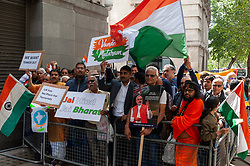 Pro India counter demonstrators also turned out with a small demonstration.<br /> <br /> <br /> Police worked to keep the protesters and counter protesters apart through use of barriers, mounted police and lines of police.<br /> <br /> Richard Hancox | EEm 15082019