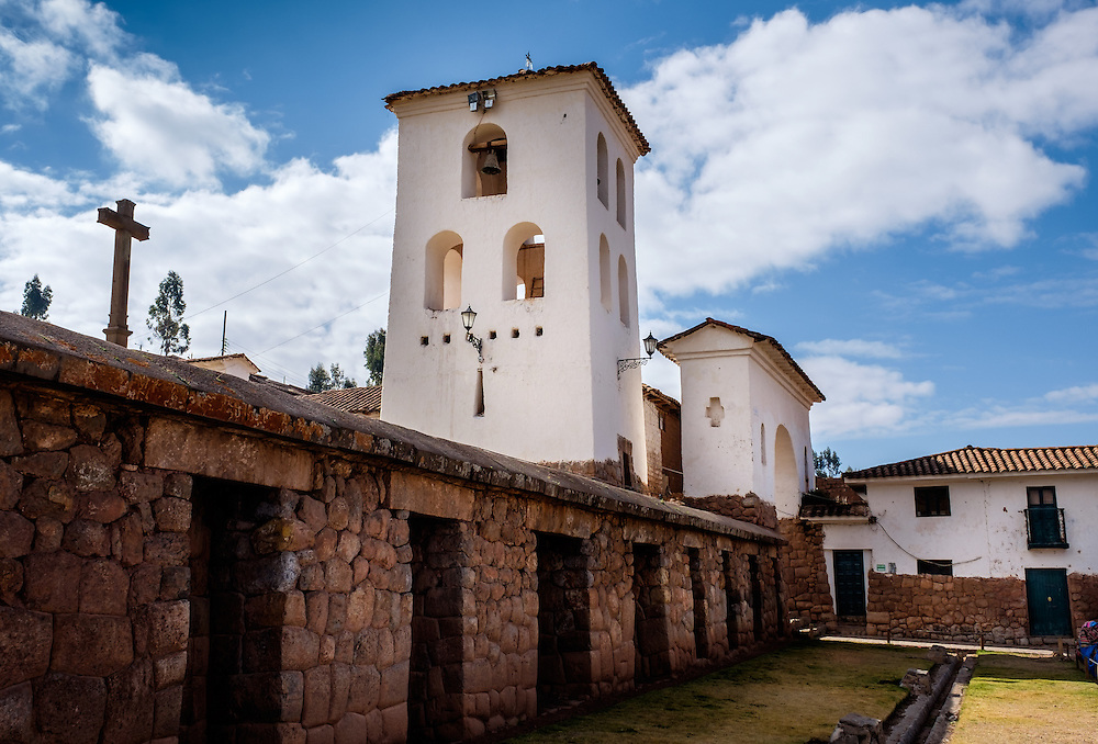 CHINCHERO, PERU - CIRCA OCTOBER 2015:  Chinchero archaeological site on the Cusco region known as Sacred Valley