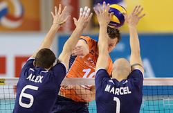 08-06-2014 NED: WLV Nederland - Portugal, Almere<br /> Jeroen Rauwerdink, Alexandre Ferreira, Marcel Keller