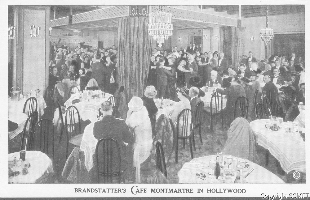 1928 Interior of Cafe Montmartre on Hollywood Blvd.