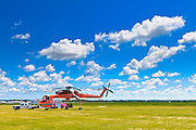 Erickson Sky Crane at the Fond du Lac Airport.