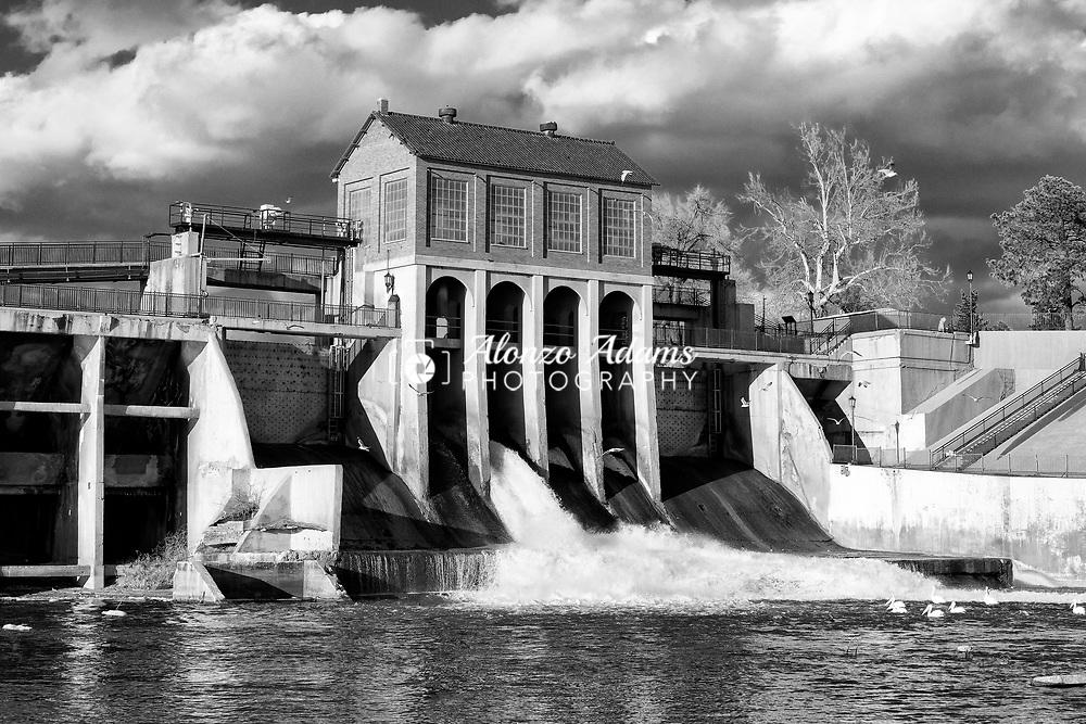 Lake Overholser Dam on Sunday, Feb. 21, 2021. Photo copyright © 2021 Alonzo J. Adams.