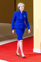 July 7, 2017 - Hamburg, Hamburg, Deutschland - Theresa May bei der Begrüßung der Teilnehmer des 12. G20 Gipfel 2017. Hamburg, 07.07.2017 (Credit Image: © Future-Image via ZUMA Press)