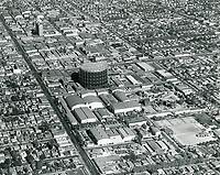 1949 Aerial photo of Goldwyn Studios in Hollywood