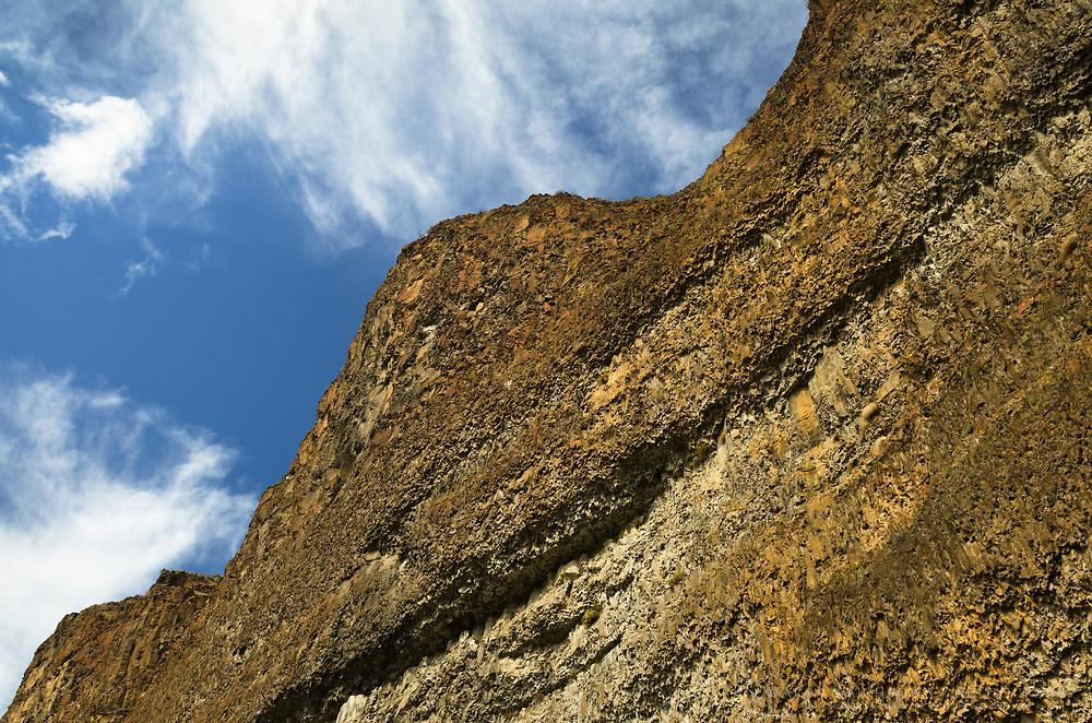 Basalt cliff, Columbia Plateau Oregon