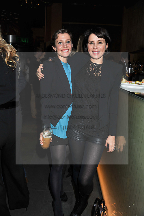 "Left to right, LISA DAWN and SADIE FROST at a party to celebrate the launch of Meg Matthews' blog - ""Meg says"" at the bar at Ni Ju San, 23 St.James's Street, London on 1st December 2011."