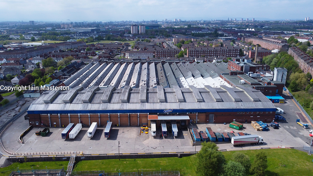 Glasgow, Scotland, UK. 13 May 2021.View of McVitie's factory threatened with closure in Tollcross, Glasgow. Parent company Pladis is investing in other UK factories which may mean job losses in Glasgow. The bakery makes biscuits such as Hobnobs and Rich Tea.Iain Masterton/Alamy Live News