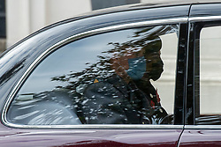 © Licensed to London News Pictures. 08/11/2020. London, UK. HRH Prince William and Catherine Duchess of Cambridge wear face masks traveling by car after attending the annual Remembrance Sunday service. Photo credit: Ray Tang/LNP
