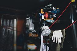 THEMENBILD - Innenansicht des mobilen Desinfektions Autos,. Mit Hilfe einer umgebauten Schneekanone der Firma Daka Schadensanierung GmbH sollen so größere Flächen und Räume desinfiziert werden. die Schneekanone kann trockenen Nebel – eine Mischung aus Wasserstoffperoxid und Silberionen – bis zu 50 Meter weit werfen aufgenommen am 10. April 2020 in Hopfgarten im Brixental, Oesterreich // Interior view of the mobile disinfection car. With the help of a modified snow blower from the company Daka GmbH, larger areas and rooms are to be disinfected. The snow blower can throw dry fog - a mixture of hydrogen peroxide and silver ions - up to 50 meters, Hopfgarten im Brixental, Austria on 2020/04/10. EXPA Pictures © 2020, PhotoCredit: EXPA/ JFK