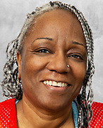 Mature African American Women with Grey dreads.
