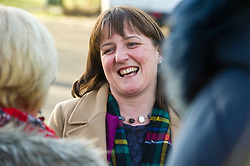 Pictured: Maree Todd<br /> Minister for Early Years and Childcare, Maree Todd today met a kindergarten class taking part outdoor learning at Luariston Castle Edinburgh.<br /> <br /> <br /> Ger Harley | EEm 22 February 2018