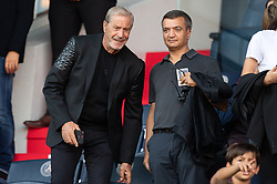 Jean-Claude Darmon and Thomas Langmann attend the Ligue 1 match between Paris Saint-Germain (PSG) and RC Strasbourg at Parc des Princes on September 14, 2019 in Paris, France.<br /> Photo by David Niviere/ABACAPRESS.COM