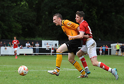 Tom Fry of Bristol City closes down the ball - Photo mandatory by-line: Dougie Allward/JMP - Mobile: 07966 386802 - 05/07/2015 - SPORT - Football - Bristol - Brislington Stadium - Pre-Season Friendly