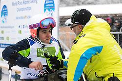 Slivnik Jernej of Slovenia and Roman Jakic during Slalom race at 2019 World Para Alpine Skiing Championship, on January 23, 2019 in Kranjska Gora, Slovenia. Photo by Matic Ritonja / Sportida