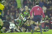 Northampton, Northamptonshire, UK, 08.12.2001, Matt DAWSON come's away from the scrum with the ball, during the, Northampton Saints vs  London Wasps, Zurich Premiership Rugby, Franklyn Gardens, [Mandatory Credit: Peter Spurrier/Intersport Images]