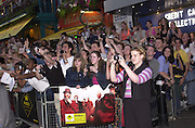 Fans outside. Snatch Premiere. Odeon Leicester Sq. London. 23 Augusty 2000. <br />