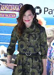 """Kathryn Hahn at the premiere of """"Hotel Transylvania 3: Summer Vacation"""" held at the Westwood Village Theatre in Los Angeles"""