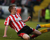 Photo: Pete Lorence.<br />Lincoln City v Bristol Rovers. Coca Cola League 2. Play off, Semi Final 2nd Leg. 17/05/2007.<br />Jeff Hughes scores for Lincoln.