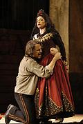 Miami, FL - April 19: William Joyner as Don Jose and Rinat Shaham as Carmen in the Florida Grand Opera Production of Georges Bizet's Carmen. (Photo by Gaston De Cardenas/El Nuevo Herald
