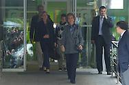 Spanish Queen Sofia, Princess Cristina, Inaki Urdangarin, Juan Valentin and Princess Elena visit King Juan Carlos of Spain at San Jose Hospital on November 25, 2012 in Madrid Spain
