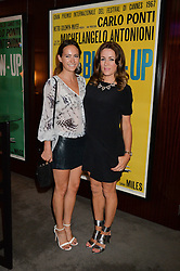 The UK Premier of Johnnie Walker Blue Label's 'Gentleman's Wager' - a short film starring Jude Law was held at The Bulgari Hotel & Residences, 171 Knightsbridge, London on 22nd July 2014.<br /> Picture Shows:-Left to right, LAVINIA BRENNAN and NATALIE PINKHAM.