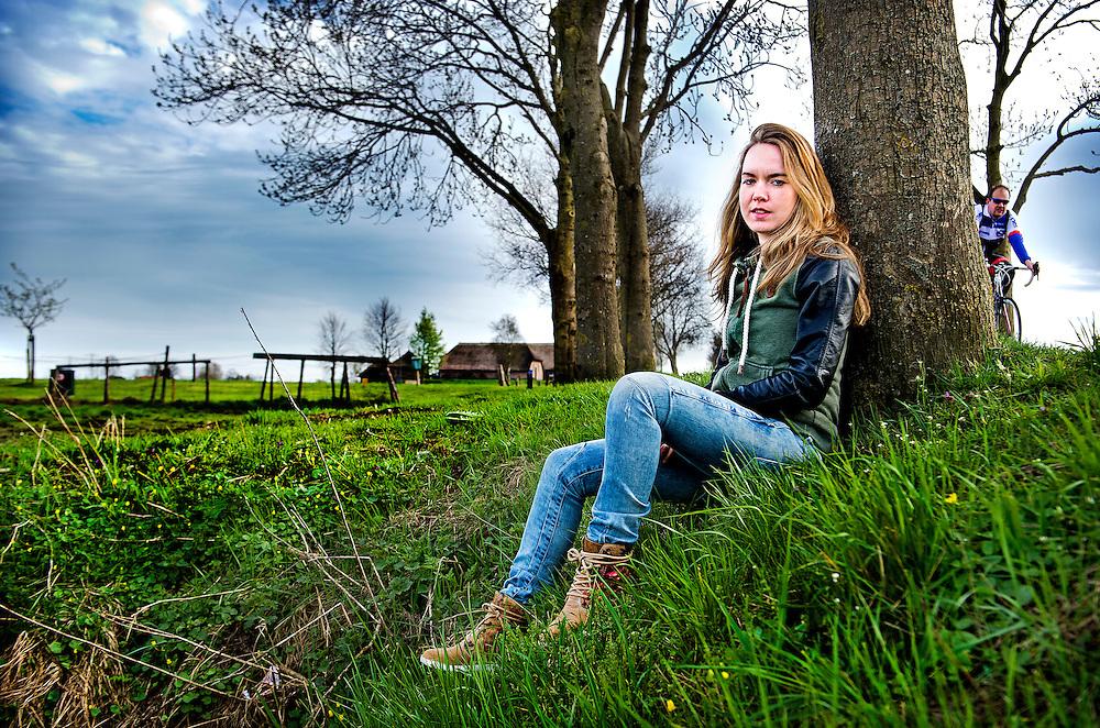 Nederland, Hasselt, 16-04-2015.<br /> Wielrennen, Vrouwen.<br /> Anna van der Breggen, wielrenster van het Rabo Liv Woman Cycling Team.<br /> Foto : Klaas Jan van der Weij