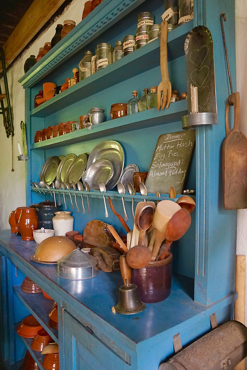 Kitchen open cupboard, Colonial Plantation, Ridley Creek State Park, Delaware County, PA