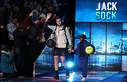 Jack Sock walks out during day five of the NITTO ATP World Tour Finals at the O2 Arena, London.