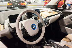 CHARLOTTE, NC, USA - November 11, 2015: BMW i3 on display during the 2015 Charlotte International Auto Show at the Charlotte Convention Center in downtown Charlotte.
