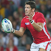James Hook, Wales, in action during the Australia V Wales Bronze Final match at the IRB Rugby World Cup tournament, Auckland, New Zealand. 21st October 2011. Photo Tim Clayton...