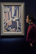 C.R.W. Nevinson¸ Looking down on Downtown, 1920 (est. £100,000-150,000) - Modern and Post-War British & Scottish Art at Sothebys New Bond Street. The sale will take place between 21 – 22 November.