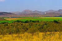 Looking from Kruger National Park out towards Malelane, South Africa
