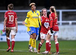 Ellen Jones of Bristol City Women and Molly Pike of Bristol City Women after the final whistle of the match  - Mandatory by-line: Ryan Hiscott/JMP - 30/01/2021 - FOOTBALL - Twerton Park - Bath, England - Bristol City Women v Brighton and Hove Albion Women - FA Womens Super League 1