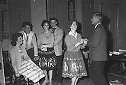 """Gael Linn.Pictured at the rehearsals of Gael Linn production Seán Ó Riada's """"Spailpin a Ruin"""" premiere at Damer Theatre, Stephen's Green as part of the International Theatre Festival.  .08.09.1960."""