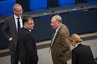 DEU, Deutschland, Germany, Berlin, 24.10.2017: Jürgen Braun und Alexander Gauland, Alternative für Deutschland (AfD), bei der konstituierenden Sitzung des 19. Deutschen Bundestags mit Wahl des Bundestagspräsidenten.