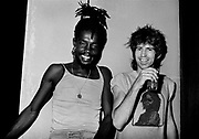 Peter Tosh with Keith Richards during the Don't Look Back video shoot - Kingston jamaica - 1978