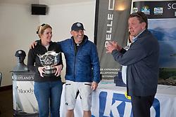 Pelle P Kip Regatta 2019 Prizegiving<br /> <br /> Overall Winners Debbie and Kevin Aitken of Animal