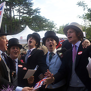 After over a decade of Labour government in Great Britain the gap between the wealthy and the poor is as large as ever. Nowhere is the class system more personified than at Royal Ascot, one of the most famous race meetings in the world, a reflection of English society and it's class system. The race meeting is frequented by Royalty and members of the upper class along with thousands of working class race goers. It's strict dress code insist men dress in top hat and tails in selected areas of the course as it continues a centuries old tradition of class segregation. June 16-20th, 2009. Photo Tim Clayton