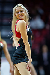NORMAL, IL - February 07: Redbird Redline Dancer during a college women's basketball game between the ISU Redbirds and the Braves of Bradley University February 07 2020 at Redbird Arena in Normal, IL. (Photo by Alan Look)