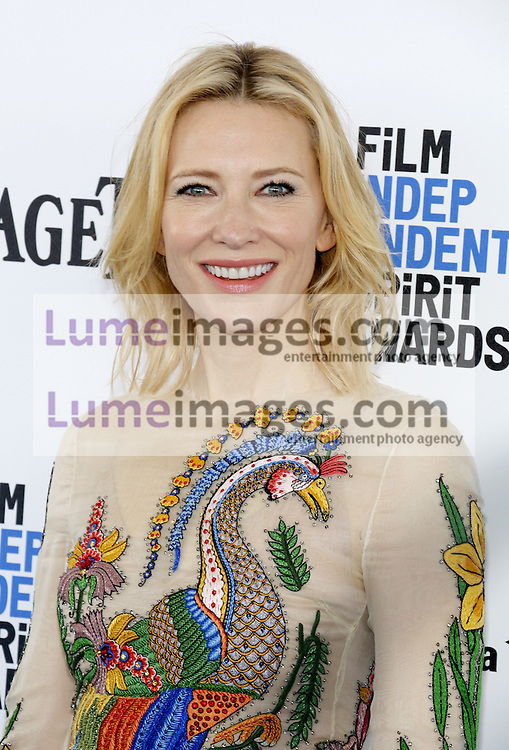 Cate Blanchett at the 2016 Film Independent Spirit Awards held at the Santa Monica Beach in Santa Monica, USA on February 27, 2016.