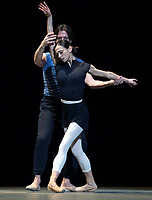 Luisa Ieluzzi and Guiseppe Picone at the rehearsal for the BALLET ICONS GALA 2020 evening of world class ballet celebrating the Russian Ballet School