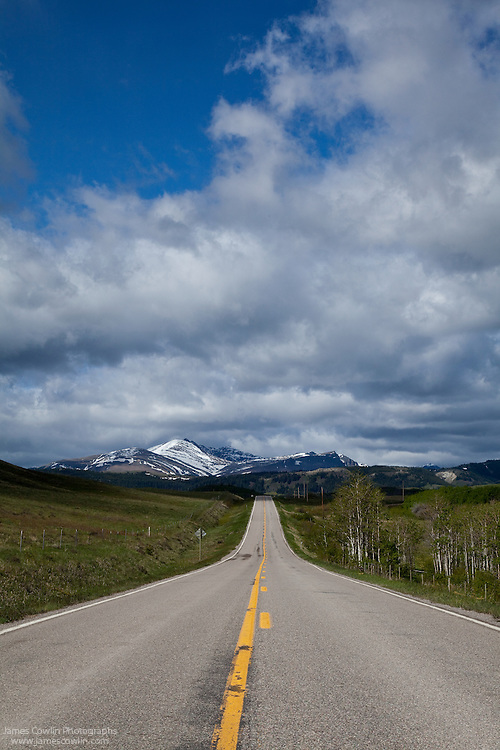 US Route 89 on the east side of Glacier National Park on the Blackfeet Indian Reservation in Montana