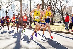 Boston Marathon: BAA 5K road race, BAA club runners lead elite women's field in first mile on Commonwealth Avenue