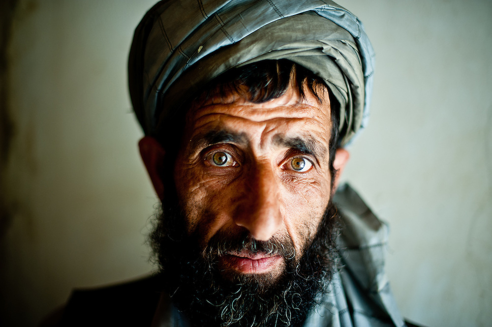 An Afghan villager in his home during a search by American and Afghan troops.