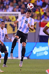 September 11, 2018 - East Rutherford, NJ, U.S. - EAST RUTHERFORD, NJ - SEPTEMBER 11:  Argentina defender Rodrigo Battaglia (16) during the second half of the International Friendly Soccer game between Argentina and Colombia on September 11, 2018 at MetLife Stadium in East Rutherford, NJ.   (Photo by Rich Graessle/Icon Sportswire) (Credit Image: © Rich Graessle/Icon SMI via ZUMA Press)