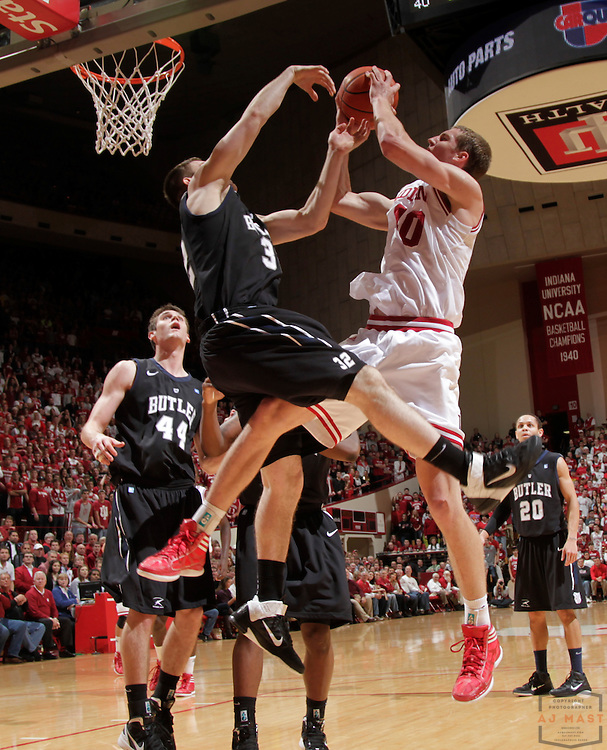 27 November 2011: Indiana Forward Cody Zeller (40)   as the Indiana Hoosiers played the Butler Bulldogs in a college basketball game in Bloomington, Ind.