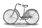 Paragon Spring Frame Safety bicycle From Wheels and Wheeling; An indispensable handbook for cyclists, with over two hundred illustrations by Porter, Luther Henry. Published in Boston in 1892