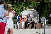 ROBERTO GUTIERREZ; DANIEL DACROIX, Sagamore Hotel Art Basel brunch.   Miami Beach. 4 December 2010. -DO NOT ARCHIVE-© Copyright Photograph by Dafydd Jones. 248 Clapham Rd. London SW9 0PZ. Tel 0207 820 0771. www.dafjones.com.