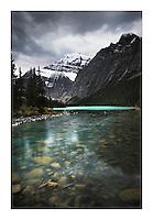 Mount Edith Cavell from Cavell Lake, Jasper National Park Alberta