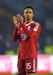 Birmingham City's Cohen Bramall applauds the fans after the final whistle